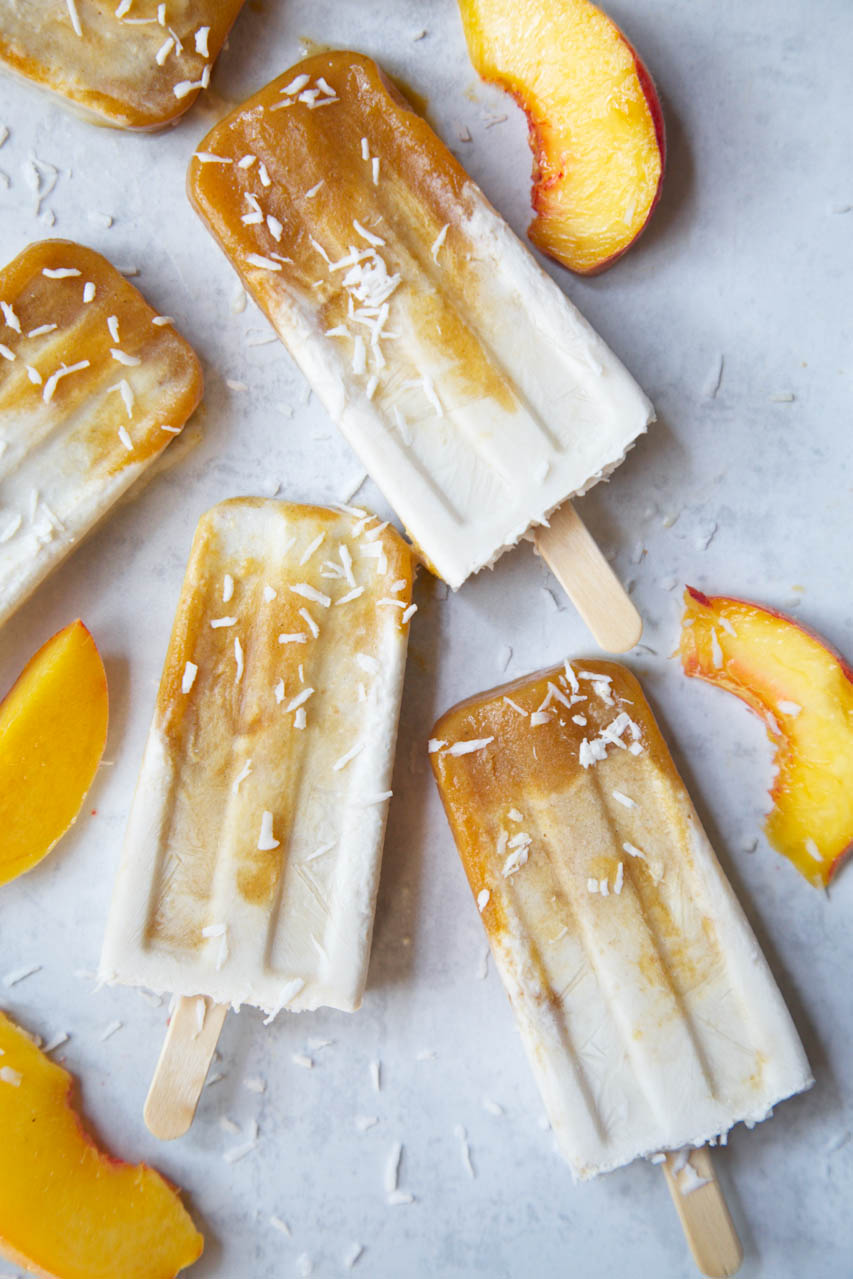 PEACHY COCONUT POPSICLES