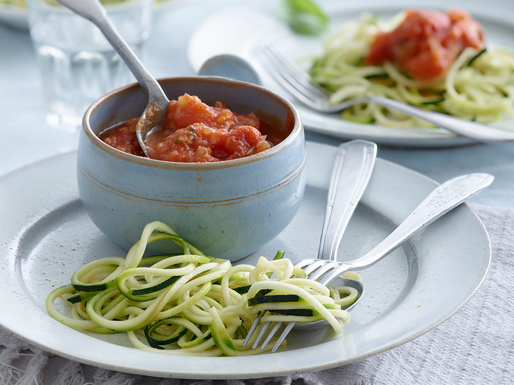 Raw Saucy Tomato Noodles
